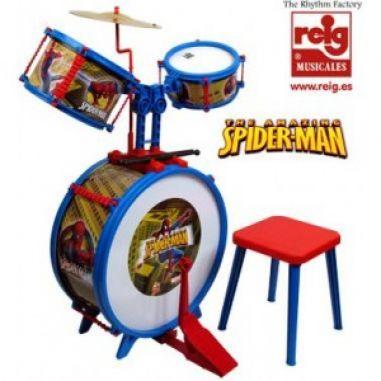 Bateria musical infantil Spiderman