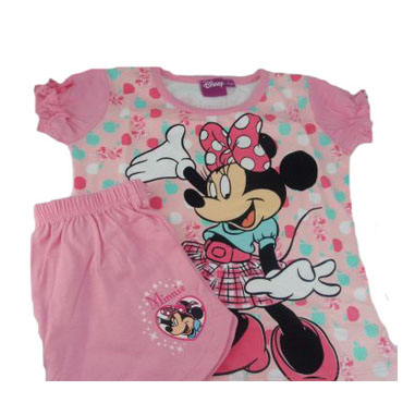 a05b8073d8 Pijama verano infantil niña Minnie. Camiseta y pantalón verano Minnie