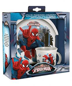 Plata y taza Spiderman