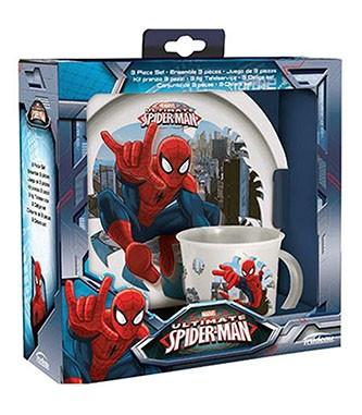 Plata y taza Spiderman
