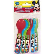 Conjunto cubiertos Mickey