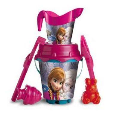 Cubo con accesorios para la playa de Frozen