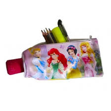 Estuche porta lapices Princesas