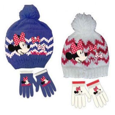 Conjunto gorro y guantes Minnie
