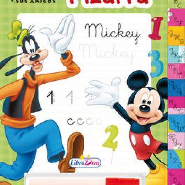 Libro con pizarra de Mickey