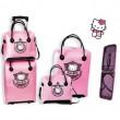 Conjunto maleta y neceser Hello Kitty