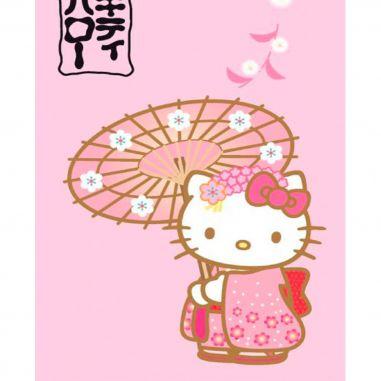 Manta polar viaje Hello Kitty