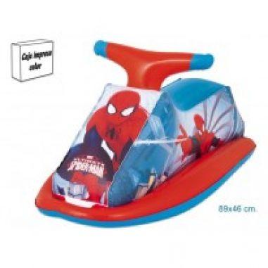 Moto hinchable infantil Spiderman
