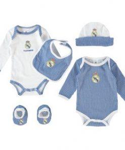 Conjunto primera puesta para bebe del Real Madrid