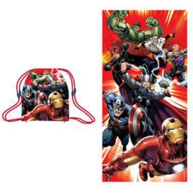 Toalla con bolsa de Vengadores