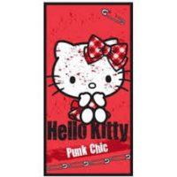 Toalla roja Hello Kitty