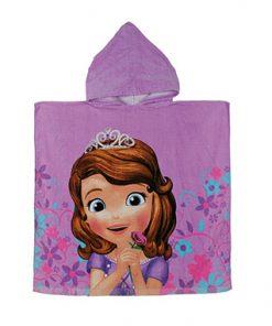 Toalla poncho infantil Princesa