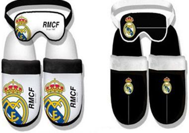 Zapatilla invierno con antifaz Real Madrid