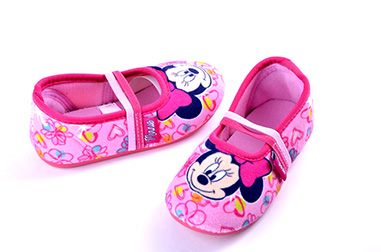zapatillas casa de Minnie Mouse
