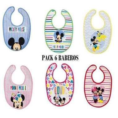 Baberos infantiles Mickey y Minnie