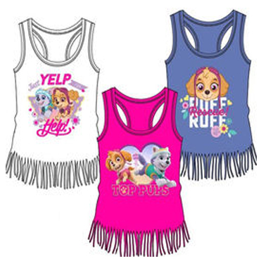 Camiseta verano para niñas La Patrulla Canina