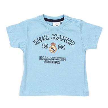 Camiseta manga corta bebe Real Madrid