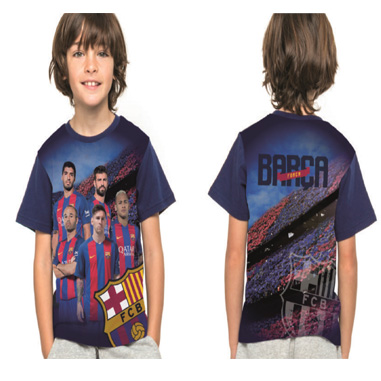 Camiseta para niños con jugadores F C Barcelona