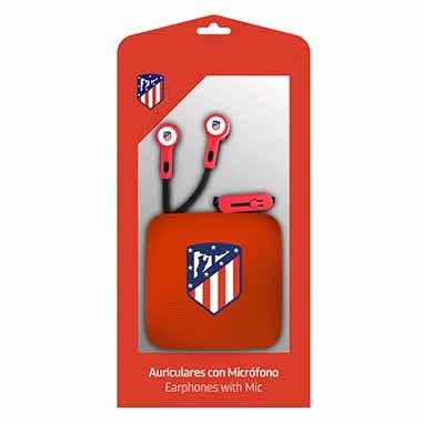 Auriculares boton Atletico de Madrid