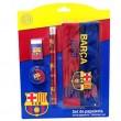 Estuche con materiales del Barça