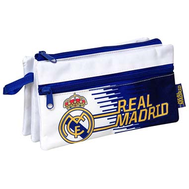 Estuche escolar triple Real Madrid