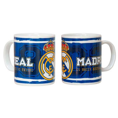 Taza azul Real Madrid