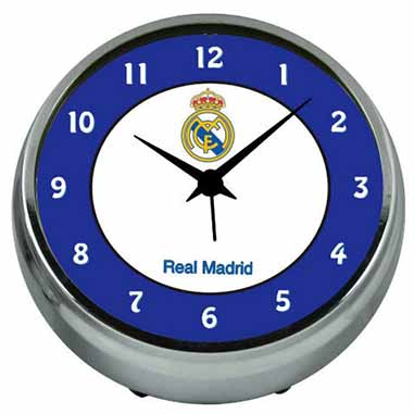 Reloj despertador metalico Real Madrid