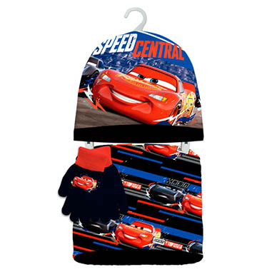 Gorro, guantes y braga cuello Cars