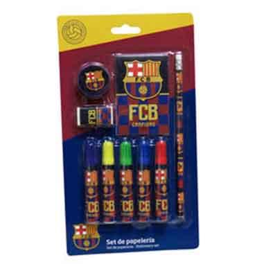 lapiz, sacapuntas, bloc notas Barça