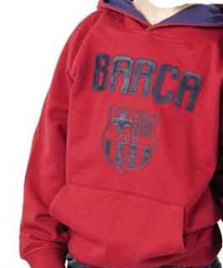 Sudadera roja con escodo Fc Barcelona