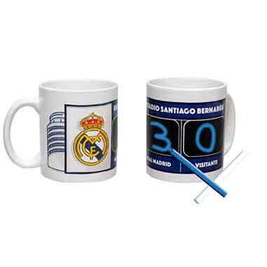Taza Real Madrid con marcador