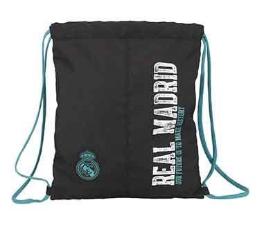 Saco cordones black Real Madrid