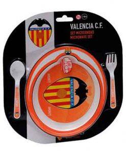 Plato y cubiertos Valencia CF