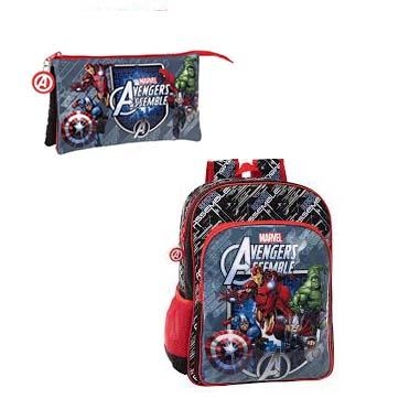 Estuche y mochila Avengers