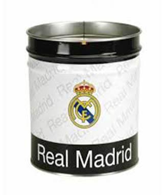 Papelera metalica Real Madrid