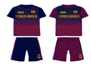 Camiseta y pantalon corto Fc Barcelona