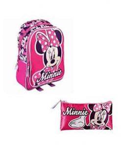 Mochila y estuche Minnie